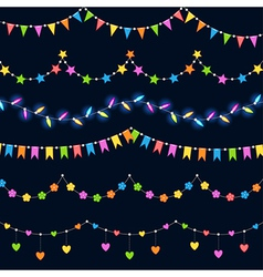 party decoration vector image vector image