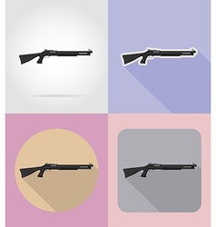 weapon flat icons 08 vector image vector image
