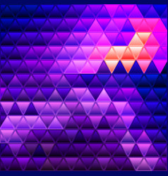abstract stained-glass triangle mosaic vector image
