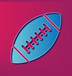 american simple football ball blue 3d vector image