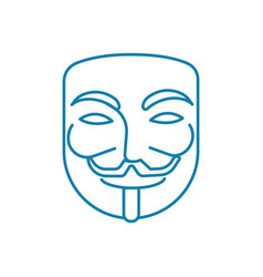 anonymous user linear icon concept anonymous user vector image