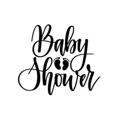 baby shower calligraphy lettering design vector image