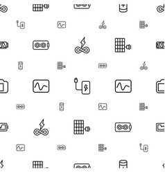 Battery icons pattern seamless white background vector