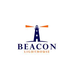 Beacon lighthouse logo design vector