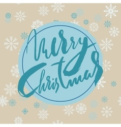 Beige christmas background with christmas blue vector image