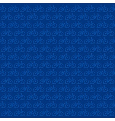bicycle pattern in blue background vector image