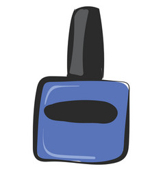 Blue manicure or color vector