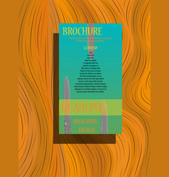 Brochure flyer magazine cover poster template vector
