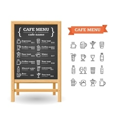 cafe menu black board vector image