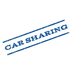 Car Sharing Watermark Stamp vector