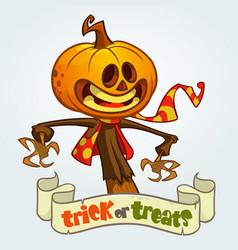 cartoon jack o lantern halloween vector image