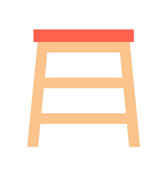 chair furniture related flat icon set vector image