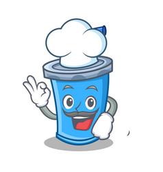 Chef soda drink character cartoon vector
