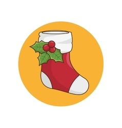 Christmas socks decoration kawaii style vector