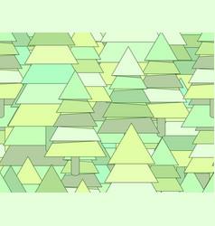 christmas tree seamless pattern modern style vector image