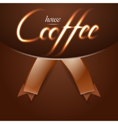 Coffee house trendy background with fire words vector