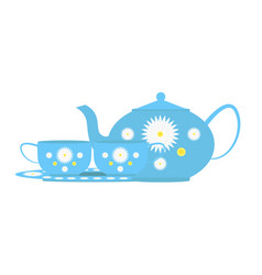 coffee set or tea set vector image