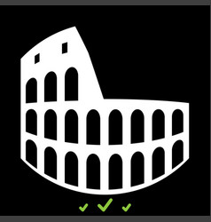 coliseum it is white icon vector image