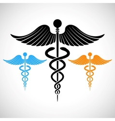 Colorful Medical Sign Caduceus vector image