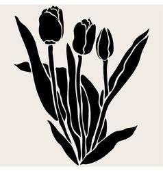 decorative tulips vector image