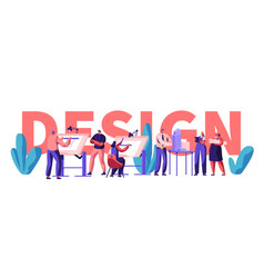 design engineering banner character invent vector image