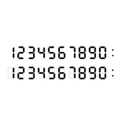 digital numbers font for electronic clock display vector image