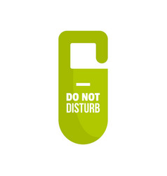 dont disturb tag icon flat style vector image