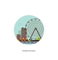 Ferris wheel Summer carnival vector
