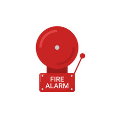 Fire alarm emergency icon alert vector