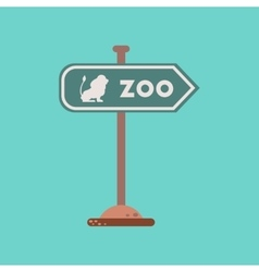 Flat icon on background zoo sign vector
