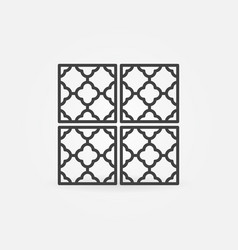floor or wall tiles outline concept icon vector image