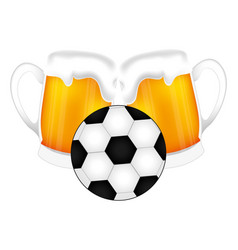 Football soccer balloon emblem vector