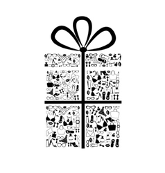 Gift box from accessories vector image