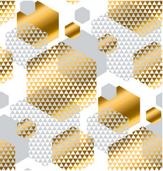 Gold and gray color creative repeatable motif vector