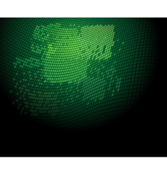 green technology background vector image