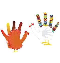 Grunge Hand Chicken2 vector