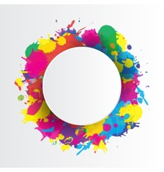 Indian festival background with colors splash vector