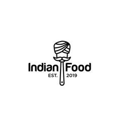 indian food logo design inspiration vector image