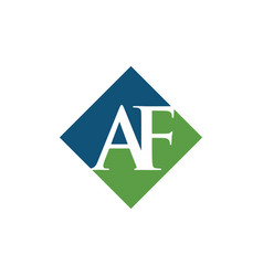 Initial af rhombus logo design vector