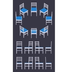 Isometric white chair vector image