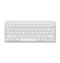 Keyboard computer white aluminum key board vector