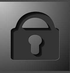 Lock icon flat design style eps10 vector