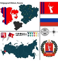 Map of Oblast of Volgograd vector