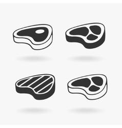 Meat Steak Symbol vector image