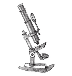 Microscope vintage engraving vector