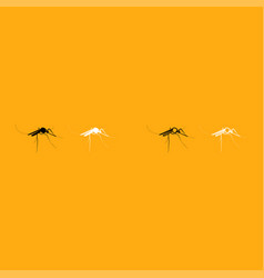 Mosquito it is white icon vector