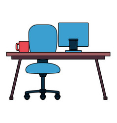 office desk chair vector image