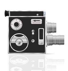 old retro vintage movie video camera 03 vector image
