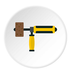 Precision grinding machine icon circle vector