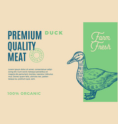 premium quality duck meat abstract meat vector image